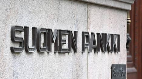 Suomen Pankin logo kuvattiin Helsingissä vuonna 2018.