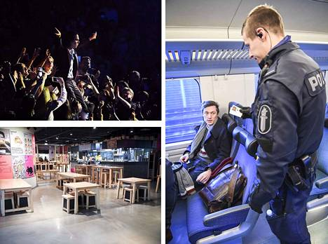 Koronaviruksella on laajat vaikutukset Suomeen, ja voimassa on useita rajoituksia. Esimerkiksi festarikansa odottaa tietoa, miten käy kesän yleisötapahtumien. Poliisit tarkastavat matkustajien papereita muun muassa junissa. Uusimaa on eristetty 19.4. saakka ja rajoja valvotaan. Ravintolat joutuvat sulkemaan ovensa.
