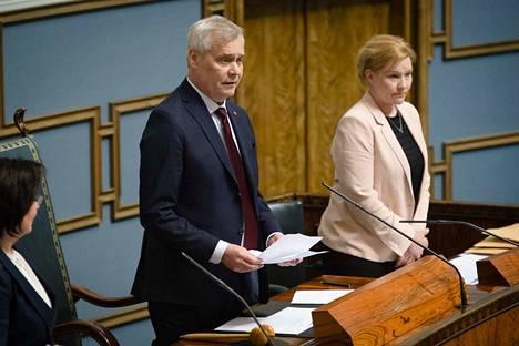 Sdp:n puheenjohtaja Antti Rinne toimii eduskunnan tilapäisenä puheenjohtajana siihen saakka kunnes hallitus on saatu muodostettua.