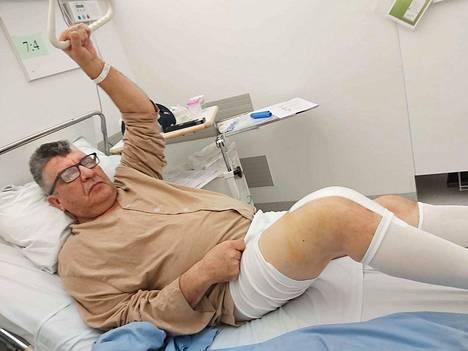 Lassi Haapanen on todella tyytyväinen leikkauskokemukseensa, kun häneltä vaihdettiin oikeaan polveen tekonivel.