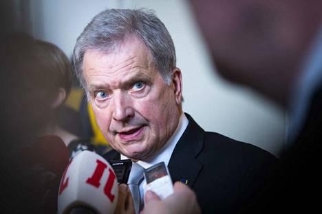 Presidentti Sauli Niinistö valtiopäivien avajaisissa keväällä 2019.