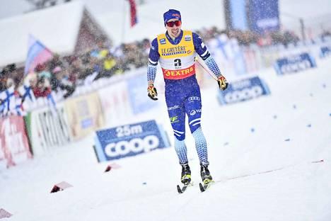 Suomen huippuhiihtäjä oli varvas puudutettuna perjantaina maailmancupin sprintissä sijalla 16.