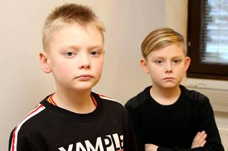"""Veljekset Luca, 8, ja Nico, 7, Lamminen halusivat Mänttään skeittipuiston, joten he panivat tuumasta toimeen, ja kirjoittivat kirjeen Mäntän """"pormestarille""""."""