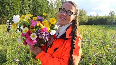 Kukkapeltoja tulee Sastamalaan ensi kesänä noin 13 hehtaarin verran, kertoo maaseutujohtaja Katariina Pylsy.