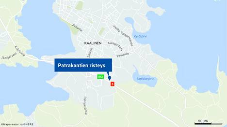 Onnettomuus on pelastuslaitoksen mukaan sattunut Patrakantien läheisyydessä.