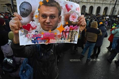 Kuva on pietarin mielenosoituksesta 31. tammikuulta.