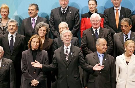 Ulkoministeri Erkki Tuomioja isännöi EU:n ulkoministereitä Tampereella Suomen edellisellä EU-puheenjohtajuuskaudella marraskuussa 2006.