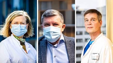 Pirkanmaan pandemiaohjausryhmän jäsenet, ylilääkäri Jaana Syrjänen, johtajaylilääkäri Juhani Sand ja apulaisylilääkäri Janne Laine vetoavat voimakkaasti sen puolesta, että pirkanmaalaiset ottaisivat koronarokotteen.