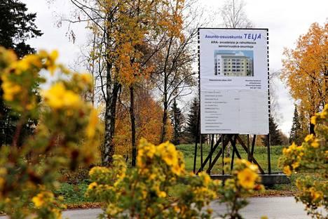 Asunto-osuuskunta Teljä markkinoi senioritaloaan jo Haapionkadun varressa. Talon rakentamisen pitäisi alkaa ensi vuonna.
