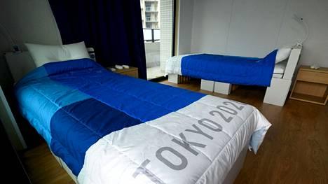 Tässä ovat Tokion olympialaisten paljon kohutut pahviset sängyt.