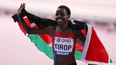 Anges Tirop voitti MM-pronssia 10 000 metrillä vuosina 2017 ja 2019