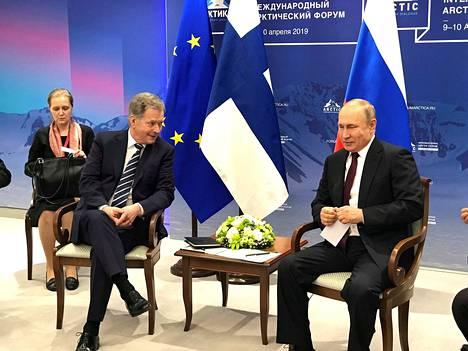 Presidentit Sauli Niinistö ja Vladimir Putin tapasivat toisensa edellisen kerran huhtikuussa.
