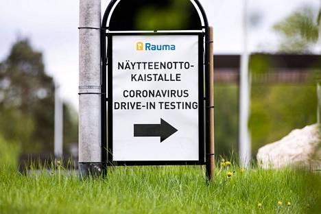 Lähes joka kymmenes testi tuotti Raumalla positiivisen tuloksen.