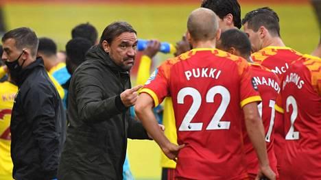Teemu Pukki on valmentaja Daniel Farken luottomies.