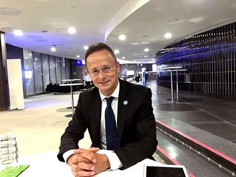 – Käymme EU:ssa debattia aina omamme ja EU:n tulevaisuuden parhaaksi, sanoo Unkarin ulko- ja kauppaministeri Peter Szijjártó Finlandia-talossa. Hän antoi erikoishaastattelun Lännen Medialle.