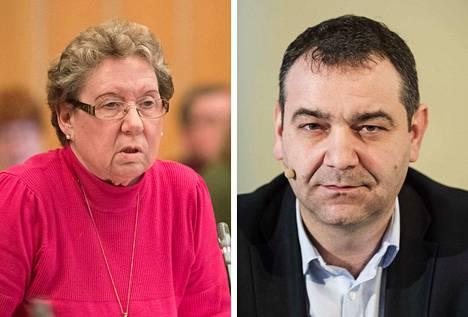 Hämeenlinnan hallinto-oikeus hylkäsi valituksen, joka koski Anneli Kivistöä (vasemmalla) ja Atanas Aleksovskia (oikealla).