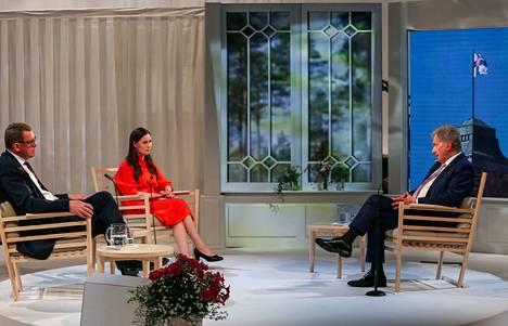 Kultaranta-keskustelut päätti presidentti Sauli Niinistön, eduskunnan puheenjohtajan Matti Vanhasen ja pääministeri Sanna Marinin keskustelu.
