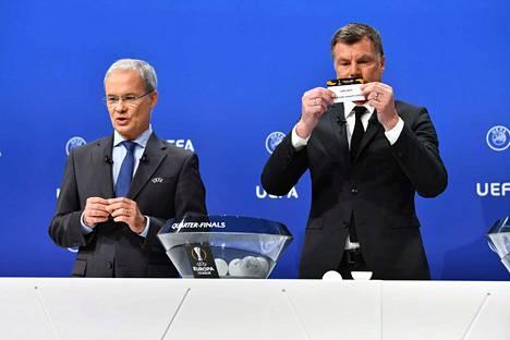 Eurooppa-liigan puolivälieräparit arvottiin perjantaina Sveitsissä.