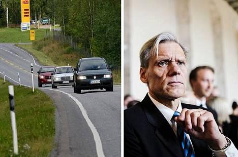 Valkeakoskelainen kansanedustaja Pauli Kiuru (kok) toivoo, että 130-tietä Valkeakosken ja Lempäälän välillä parannettaisiin edelleen. Vuosi sitten koko tieosuudelle saatiin valaistus.