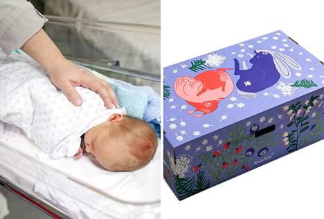 Äitiyspakkaus pitää pintansa odottavien äitien keskuudessa. Kuvituskuva.