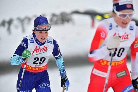 Krista Pärmäkoski löi kovan suorituksen tiskiin 10 kilometrin perinteisen kisassa.