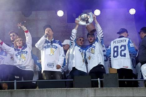 Tällaista oli meno Tampereella 29. toukokuuta vuonna 2019, kun Leijonat juhli Slovakiasta haettua MM-kultaa.