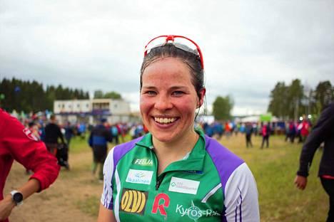 Osallistuminen suunnistuksen Venlojen viestiin on kuulunut yleensä osana Krista Pärmäkosken kesäharjoitteluun, mutta tänä kesänä sitä mahdollisuutta ei ollut. Kuva vuoden 2019 Kangasalan Jukolasta.