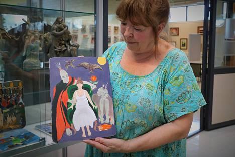 Anna-Liisa Siivosen unissa kuulema ääni sai sattumalta kasvot, kun hän maalasi unestaan taulun. Unikakkiainen paljasti päässeensä kuvaan.