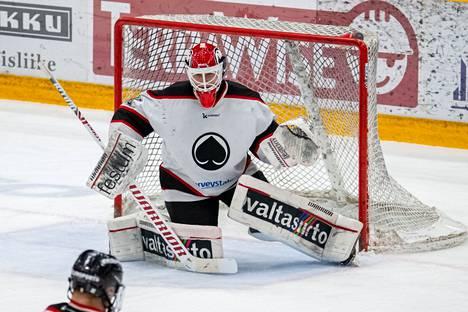 Rasmus Korhonen vartioi viime kaudella Ässien U20-joukkueen maalia ja käväisi myös Liigassa.