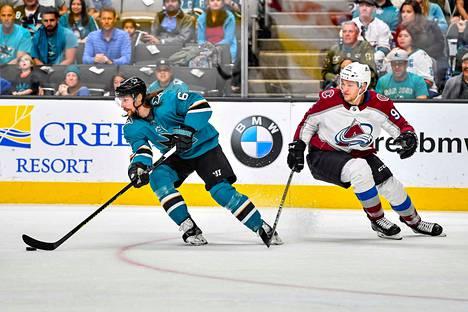 Colorada Avalanchen ja San Jose Sharksin sarja on 2-2 tasatilanteessa.