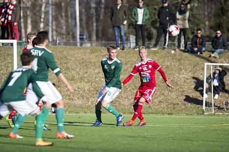 Joel Lehtonen (oik,) palaa FC Jazziin. Herralahdessa Jazz ja Lehtonen eivät ensi kaudella pelaa, kuten arkistokuvassa pari vuotta sitten.