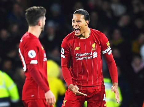 Kapteeni Virgil van Dijk ei säästellyt omiaan, kun Liverpool hävisi helmikuun lopussa Watfordille.