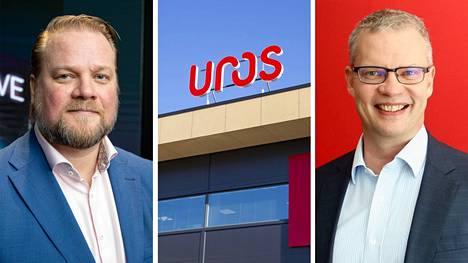 Oululainen Uros vaihtoi keskiviikkona 22. syyskuuta yllättäen toimitusjohtajaansa. Tehtävässä toimineen Jerry Raatikaisen (vasemmalle) tilalle vaihtui Rauno Jokelainen.