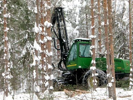Tukki- ja kuitupuun hinta pystykaupoissa laski viime vuonna edellisvuoteen verrattuna. Metsäteollisuus ostaa valtaosan, viisikuudesosaa, yksityismetsien puusta pystykaupoilla.