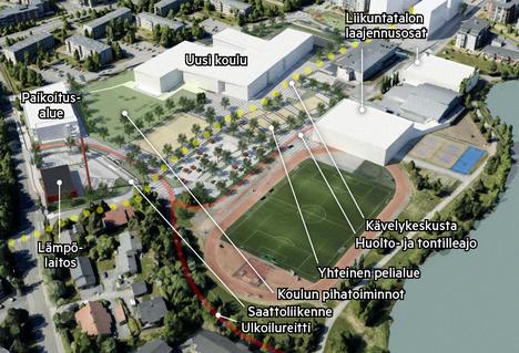 Vähäjärven rannalle Pirkkalaan suunnitellun sporttikampuksen suunnittelu etenee.