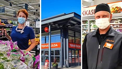 Virvoitusjuomia, grillituotteita ja paikallisia mansikoita lähtee mänttäläisten mukaan, kun he käyvät ostoksilla. S-marketin Mia Kolhinen ja K-market Ruokapaletin Arttu Saloranta kertovat, että kesällä asiakaskuntaan liittyy myös mökkiläisiä.