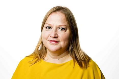 Toimittaja Hannamari Ahonen. Kolumnikuva.
