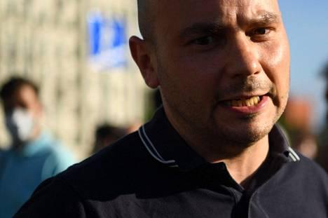 Poliittinen aktivisti Andrei Pivovarov kuvattiin heinäkuussa 2020 Moskovassa.