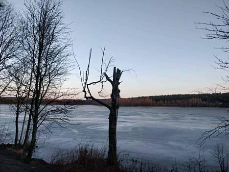 Tohlopin aurattua retkiluistelurataa ei järvellä juuri havaitse, sillä aurauspenkat ovat sulaneet. Siitä huolimatta jää on hyvässä kunnossa.