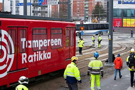 Testiratikka aloitti kulkunsa Tampereella keskiviikkona 18. maaliskuuta.