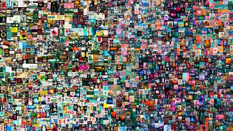 """Beeplen teos """"Everydays – The First Days"""" koostuu nettiin vuodesta 2007 lähtien julkaistuista kuvista."""