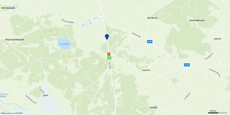 Susi jäi auton alle Eurajoelta pohjoiseen.
