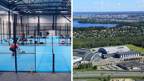 Kesäkuukausina padelia pääsee pelaamaan Tampereen messu- ja urheilukeskuksessa, jonne nousee kymmenen padel-kenttää.