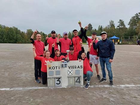 Puulaakimestaruus meni tänä vuonna Kiikoisiin, kun KiiMa taisteli tiensä voittoon lauantaina järjestetyssä ottelussa.