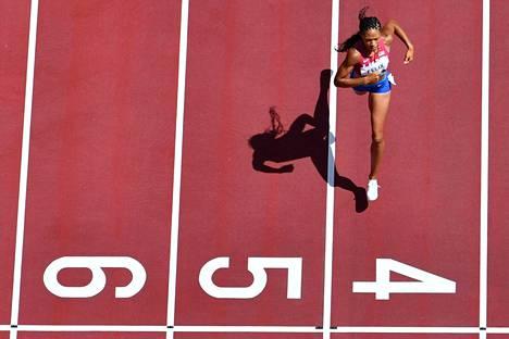 Allyson Felix voitti Tokiossa kymmenennen olympiamitalinsa.