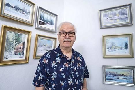 Jorma Kauton monivuotinen taideura on tuottanut yli 150 Valkeakoski-aiheisen teoksen kokoelman.