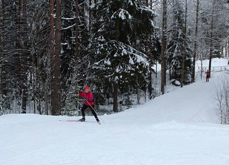 Koukkujärven majalla pääsee jo hiihtämään. Arkistokuva.