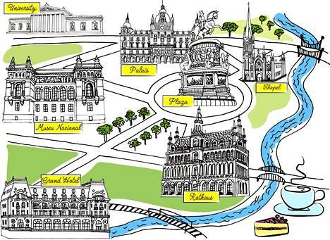 Eurooppalaisen kaupunkiturismin keskuspaikoilta voi löytää tutut elementit maassa kuin maassa: keskusaukion tai torin laidalta löytyvät kulttuuripalatsit, hallintorakennukset ja muistomerkit. Sieltä aukeavat myös bulevardit ja puistot.