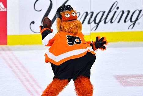 Gritty saapui Philadelphia Flyersiin vuonna 2018.