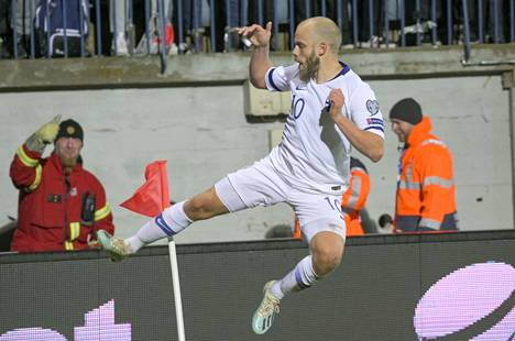 Jatkuuko Teemu Pukin maalivire Liechtensteinia vastaan? Pukki on viimeistellyt seitsemän maalia kahdeksassa ottelussa.